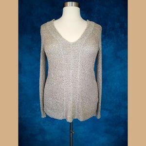 NWT Jack by BB Dakota Gold Lace Up Sweater Medium